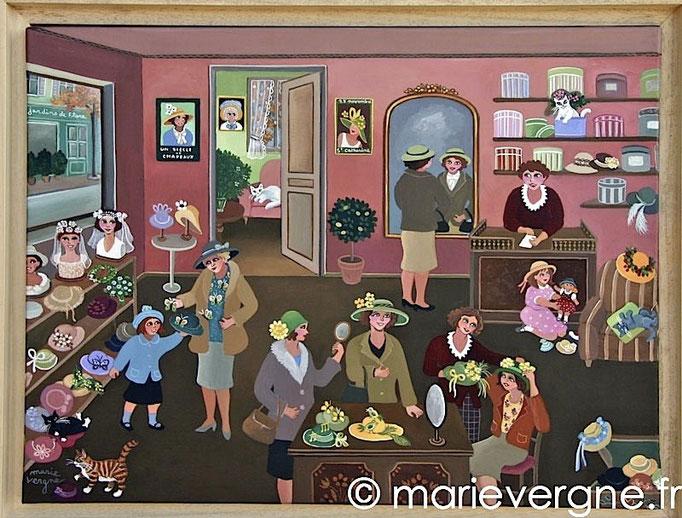 La Modiste - Acrylique - Format 61 x 46 - Prix sur demande