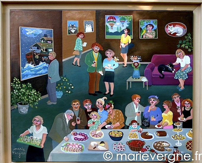 Le Vernissage - Acrylique - Format 55 x 46 - Prix sur demande