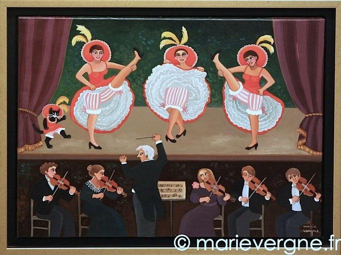 La Fosse d'Orchestre - Acrylique - Format 48 x 33 - Prix sur demande
