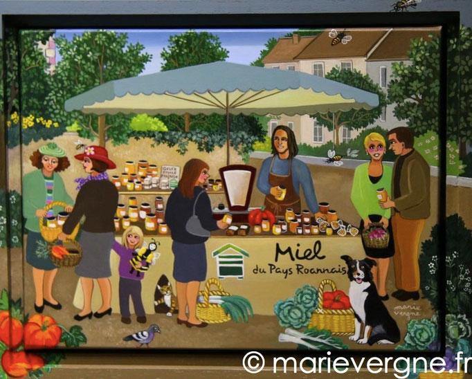 Le Marchand de miel - Acrylique - Format 33 x 24 - Vendu