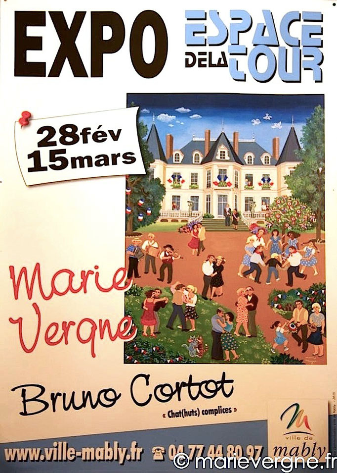 "Marie Vergne - Bruno Cortot ""Chat(huts) complices"" - Mably - 28 février / 15 mars 2015"