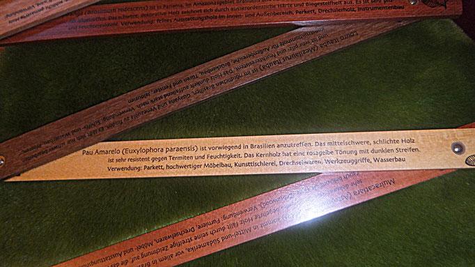 Zollstock 29 euro, jedes Glied ein anderes Holz