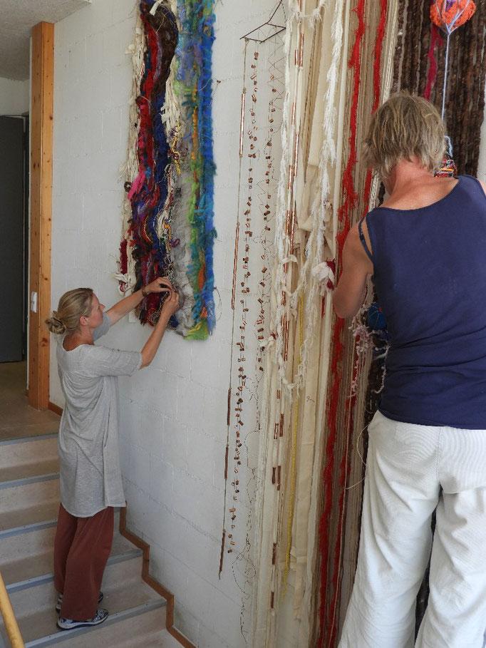 02: Wandteppiche, Wolle und Materialien von Gerd Hendrickx und Ingrid Tames