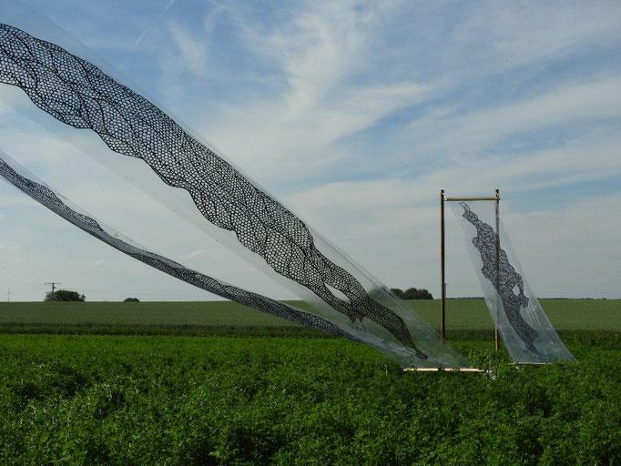 04: Windmühlenschatten, Holz und Acryl auf Plastikfolie von Takashi ...