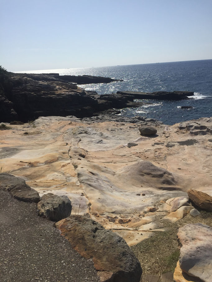 和歌山県白浜の千畳敷の風景