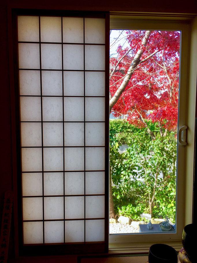 松龍庵からの秋の眺め