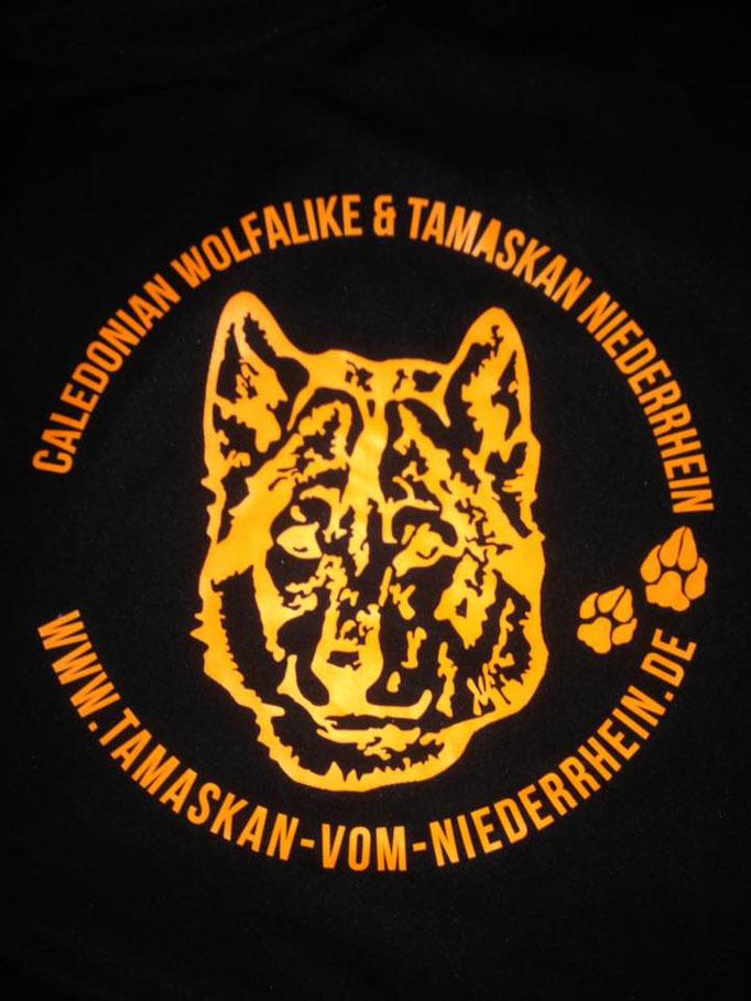 Logo erstellt und es wurde auf Textil gestickt