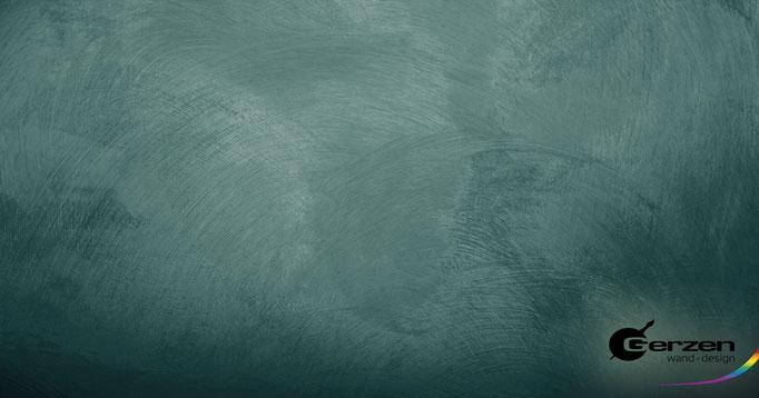 Wischtechnik Meeresgrün GERZEN wand-design
