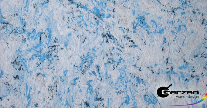 Wickeltechnik in Blau-Weiß von GERZEN wand-design