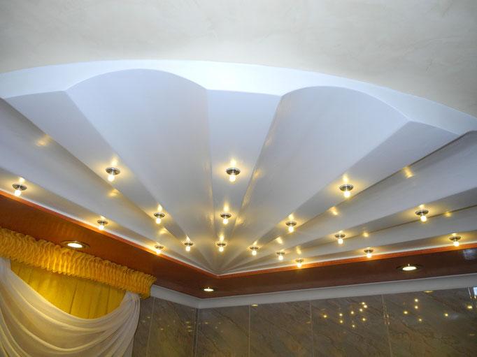 """Deckenmodul """"Shell"""" mit integrierter Beleuchtung von GERZEN wand-design"""