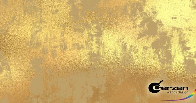 Vergoldungstechnik - Kreativtechnik, Wandvergoldung - GERZEN wand-design