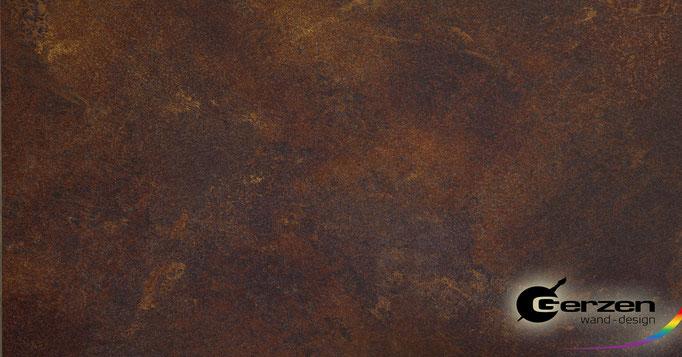 Patina-Rostoptik, Patina in braunen Tönen von GERZEN wand-design