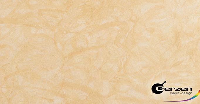 Lasurtechnik in zarten Pfirsich-Tönen von GERZEN wand-design