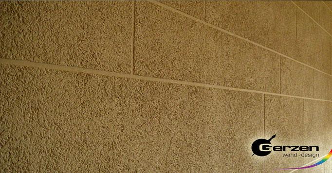 Strukturierter Scheibenputz im Innenraum (1,5 mm) GERZEN wand-design