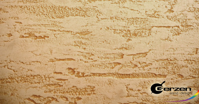 Reliefspachtel farblich lasiert von GERZEN wand-design
