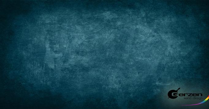 Blue ocean - Spezielle Tupftechnik von GERZEN wand-design