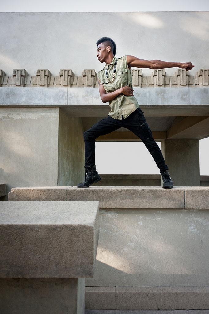 Xavier Cunningham, Hip-Hop Dancer | Hollyhock House in Hollywood, CA | 2013