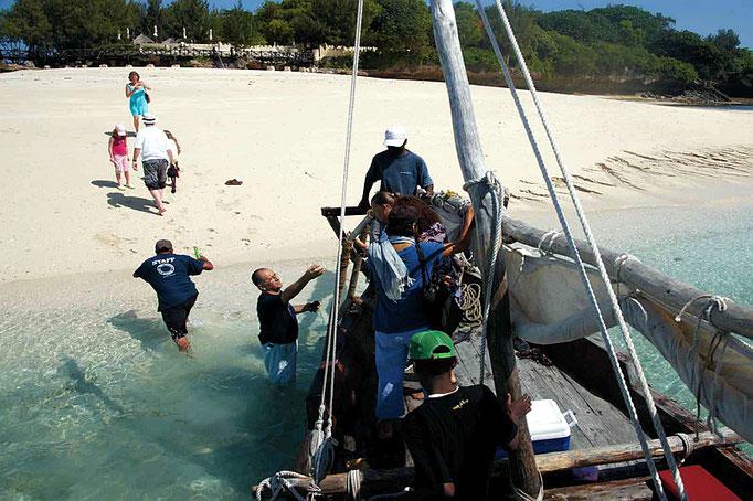 Arrivo a Prison Island - Zanzibar