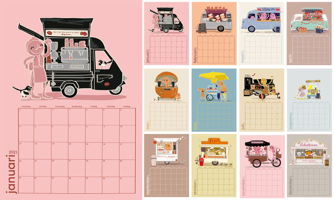 My calendar, I make one every year, just for fun!