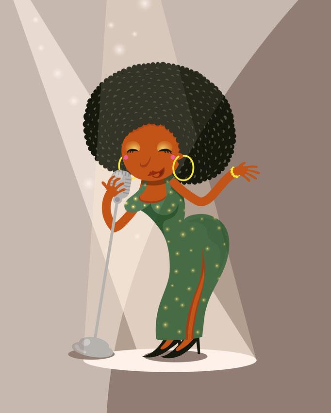 Jazz lady - free work