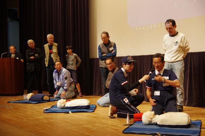 日本赤十字社山口県支部講師及びアマチュア無線奉仕団の皆さん