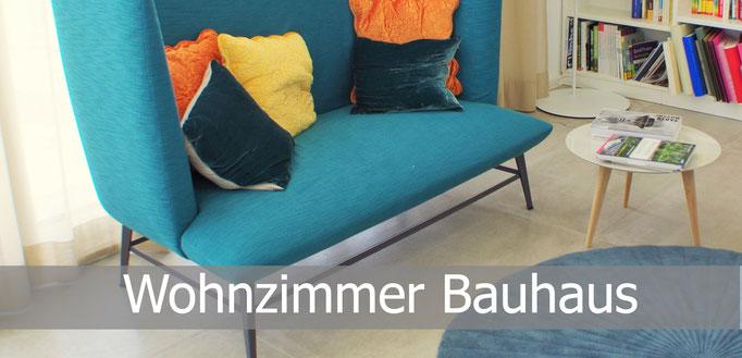 Gestaltung Wohnzimmer Bauhaus, Rolf Kullmann Innenarchitekt, Atelier Feynsinn Köln