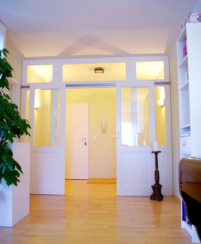 Planung Eingangsraum , Innenarchitekt Rolf Kullmann, Atelier Feynsinn Köln Mülheim