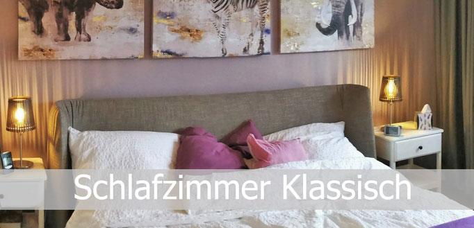 Schlafzimmergestaltung klassisch, Rolf Kullmann Innenarchitekt, Atelier Feynsinn Köln