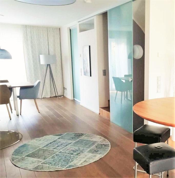 Wohnraumplanung Küchentheke, Rolf Kullmann Innenarchitekt, Atelier Feynsinn, Köln