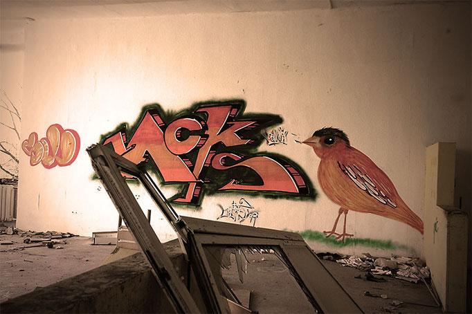 Graffiti in der Klinik