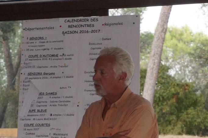 Jean Luc Chanut Président