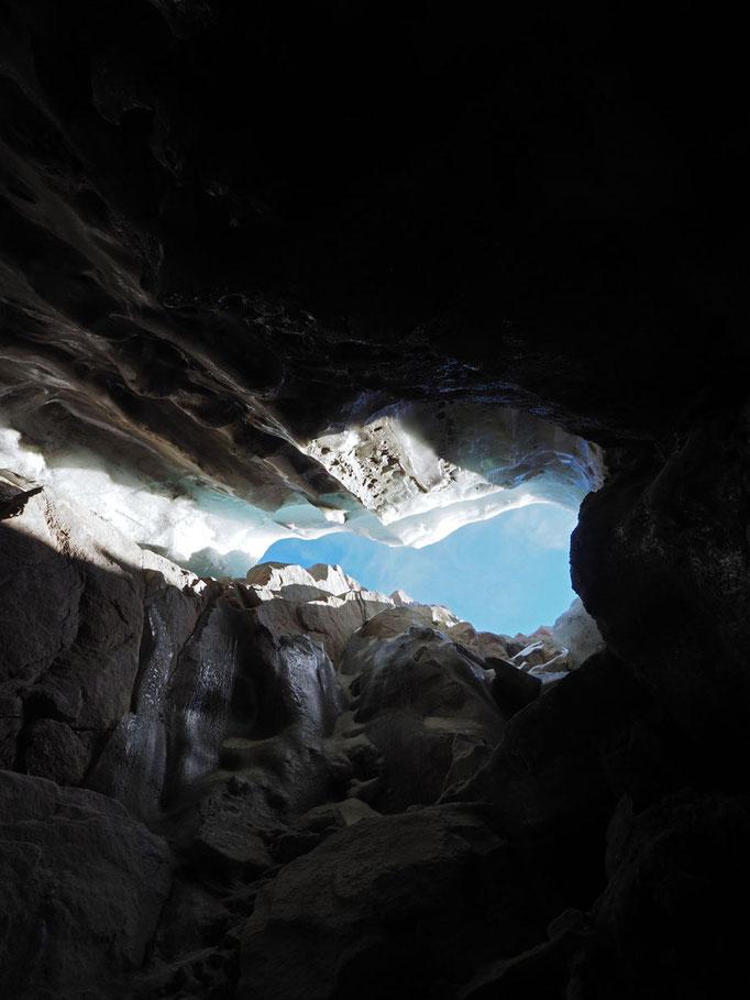 Muttengletscher: inghiottitoio a 2765 m