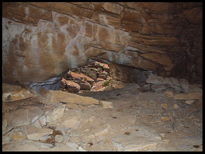Buco dell'Alabastro: camera iniziale