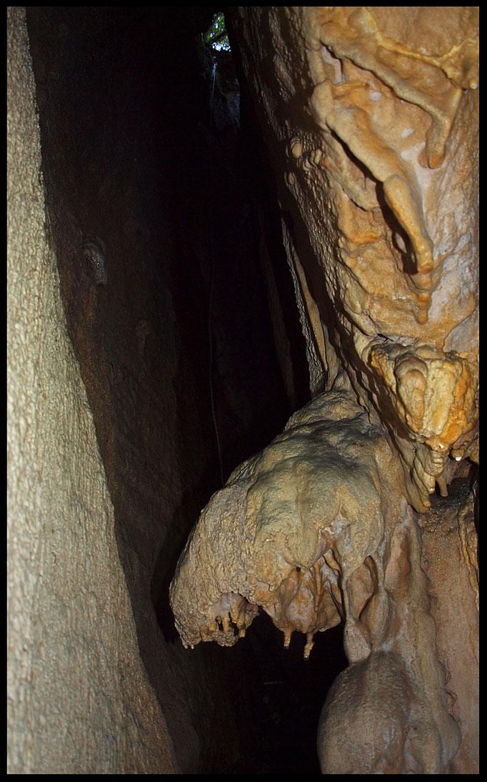 Grotta Inversa: pozzo d'entrata