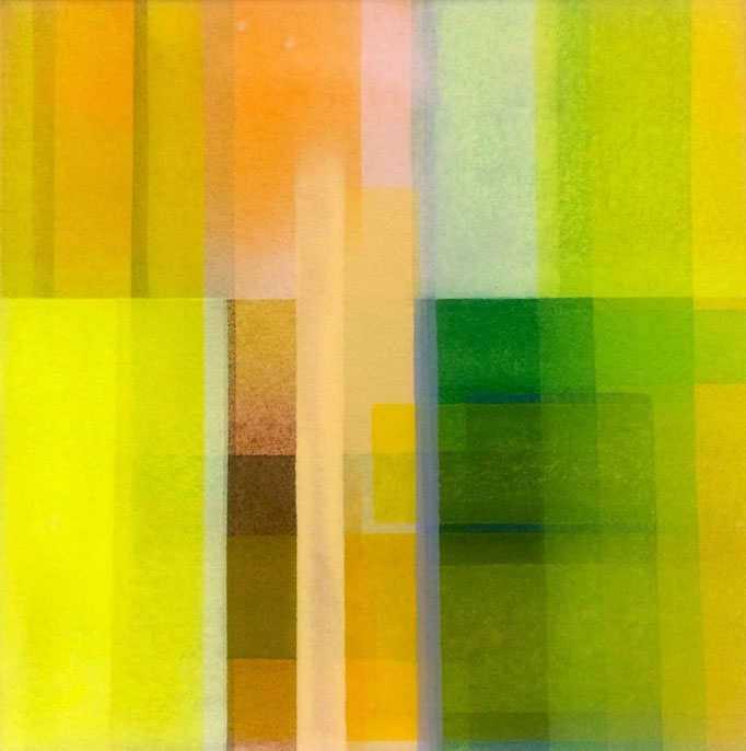 黄の風景   S3 (27.3x27.3cm)   2016