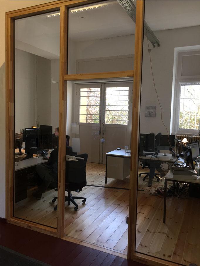 Raumteiler |Glaswand für Büro