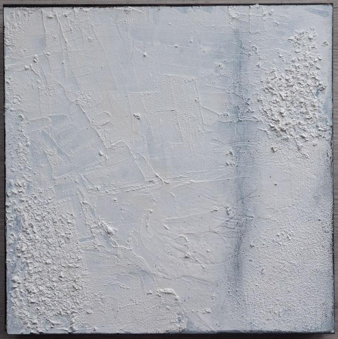 White 6, 2019, 30x30, Mischtechnik  auf Holzkörper