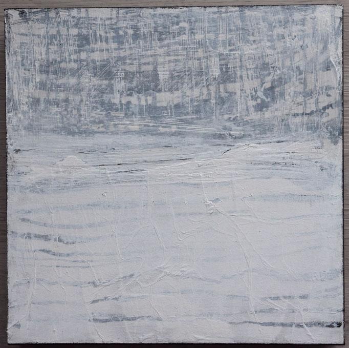 White 5, 2019, 30x30,Mischtechnik  auf Holzkörper