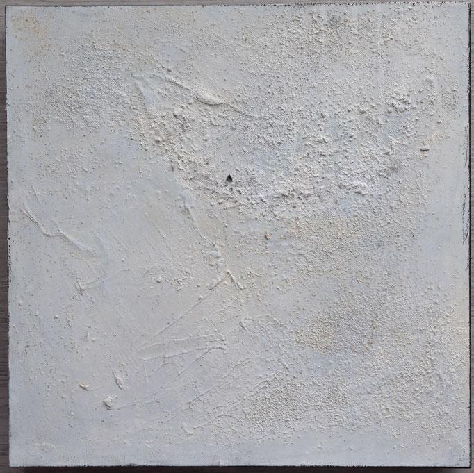 White 2, 2019, 30x30, Mischtechnik auf Holzkörper