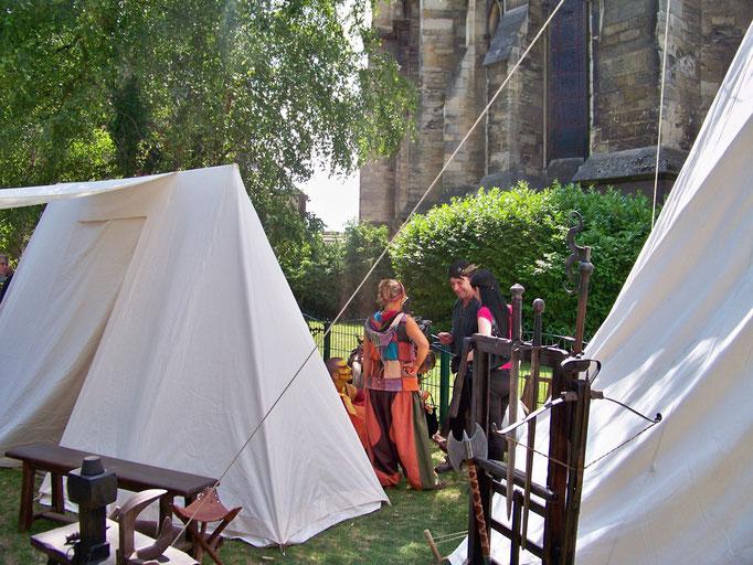 Les fêtes médiévales sur le parvis