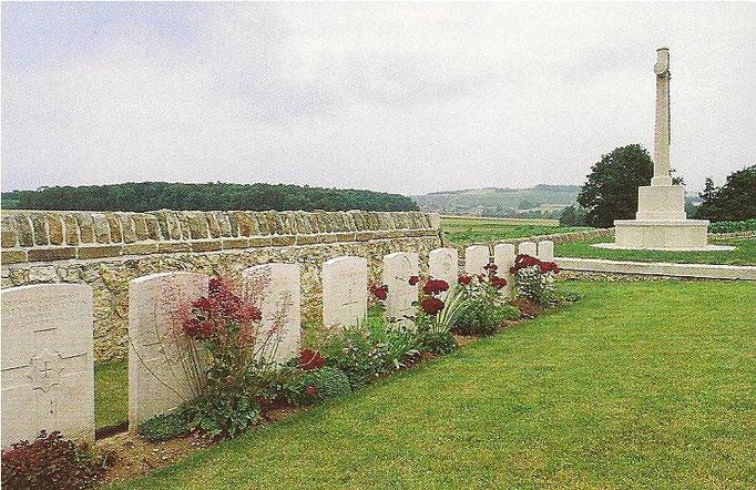 Le cimetière militaire britannique de BOUILLY 203 Soldats  14/18