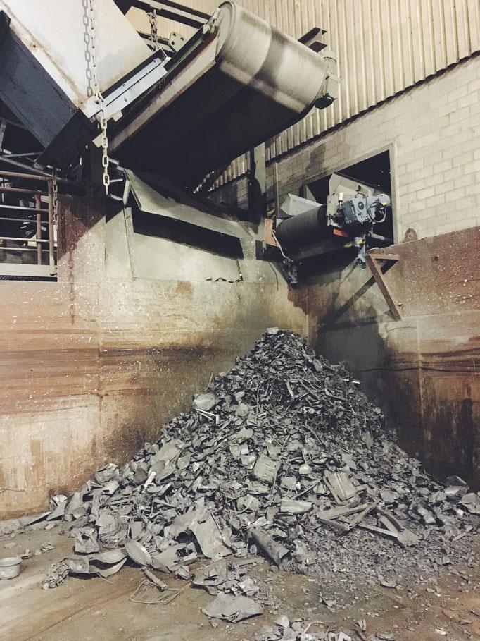 (Foto: Zero Waste Plant Power) Reste aus der Verbrennungsanlage