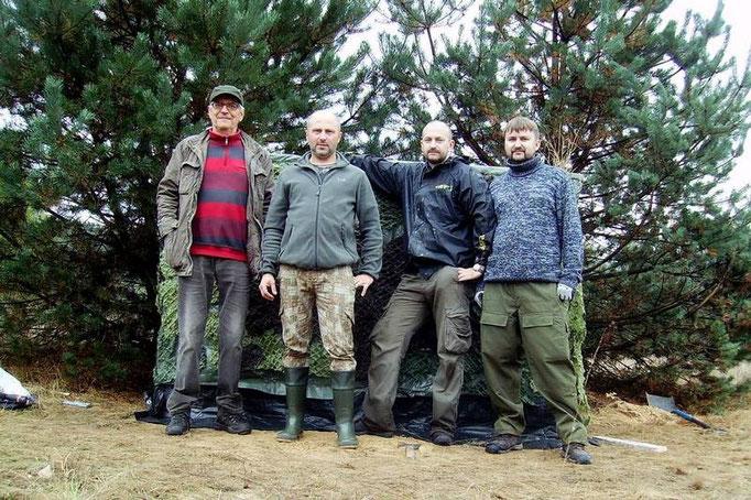 Kwartet. Od lewej: Bogdan, Romek, Ś.P. Marek, Damian