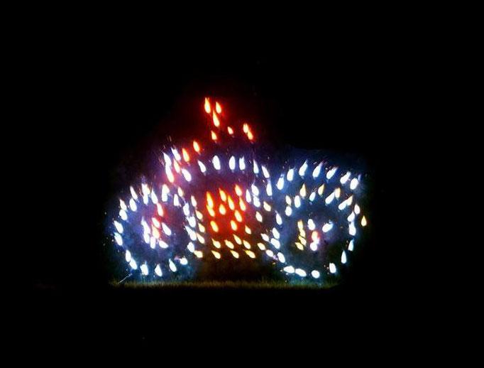 Lichterbild Feuerschrift