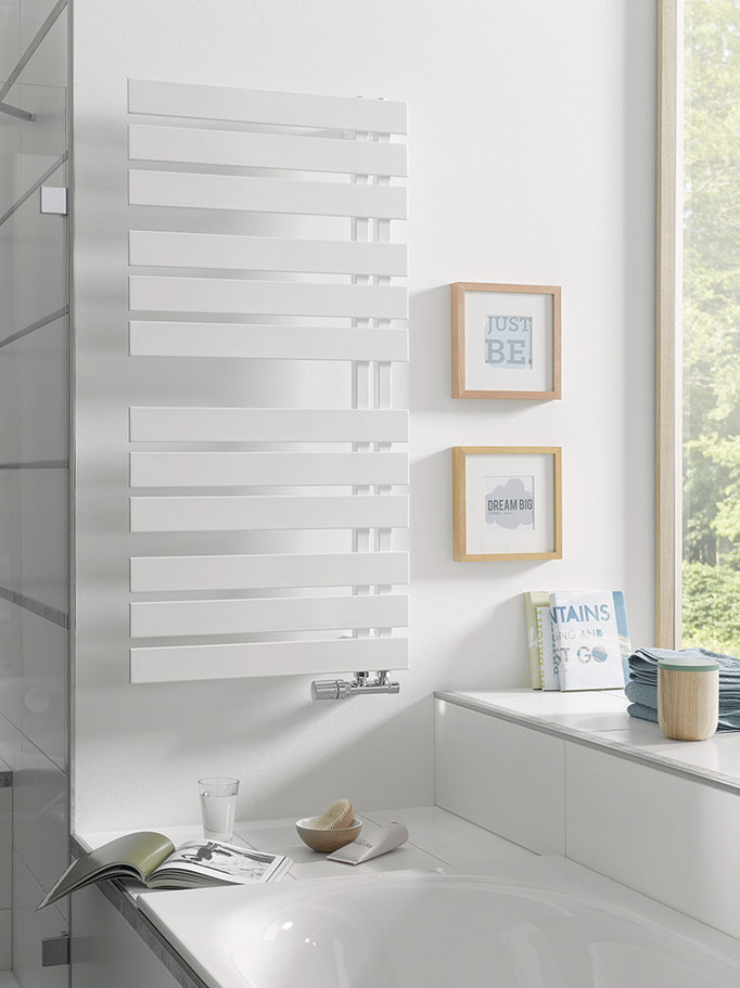 Yenga Designheizkörper in Standardfarbe weiß, Foto © HSK