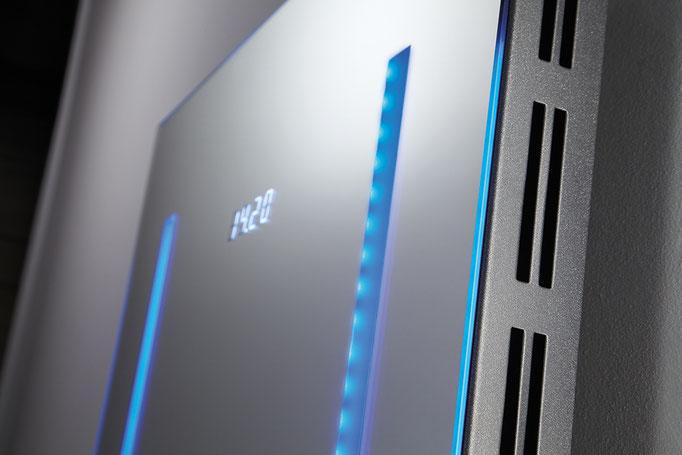 Detail LED Designheizkörper, Foto © HSK