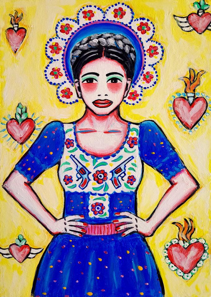 Frida. Vorlage: Lena Hoscheck, A4