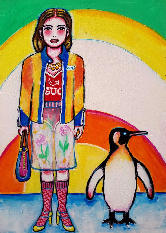Pinguin, Vorlage: Gucci, A4
