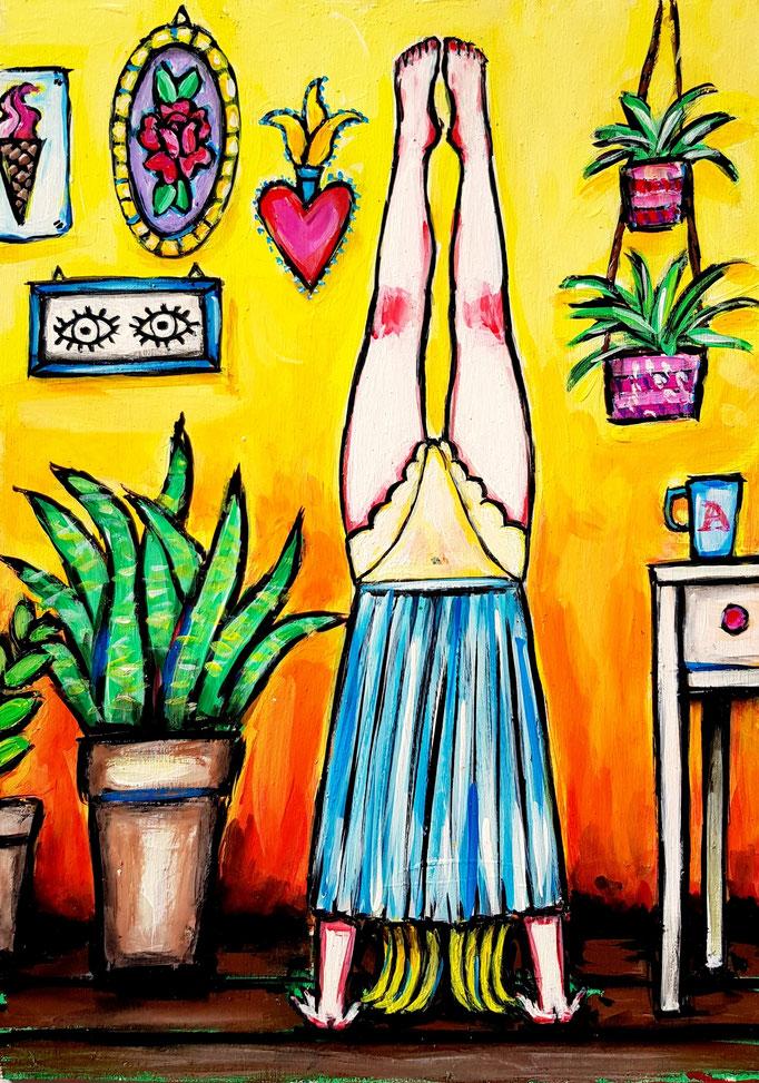 Handstand, Vorlage: Alzbeta Jungrova, A4, 600Fr.