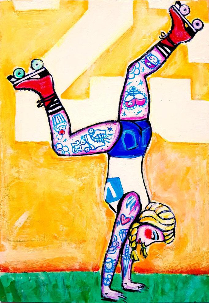 Handstand, Vorlage: Miranda Comeaux, A4